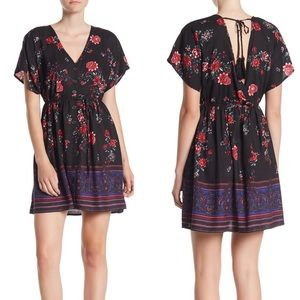 NWT Band Of Gypsies Curacao Floral V-Neck Dress